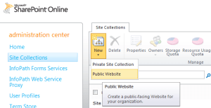 SharePoint Online Public Website